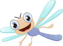 Happy dragonfly cartoon. Vector Illustration of happy dragonfly cartoon on white vector illustration