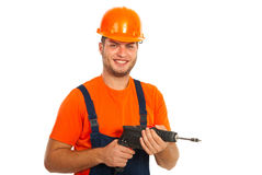 Happy driller man Royalty Free Stock Photos