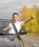 Happy driver Royalty Free Stock Photography