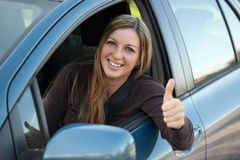 Happy driver Stock Images
