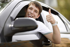 Happy driving Stock Images