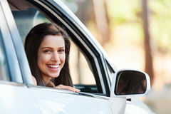 Happy driving girl Royalty Free Stock Image
