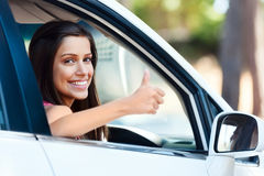 Happy driving girl Royalty Free Stock Photography