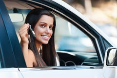 Happy driving portrait Royalty Free Stock Photography