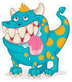 Happy drooling pet monster Royalty Free Stock Photo