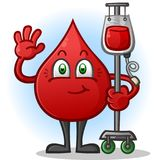 Blood Transfusion Cartoon Character Royalty Free Stock Photography