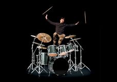 Happy Drummer Stock Photography