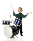 Happy Drummer Boy Stock Photo