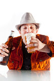 A happy drunk Stock Images