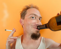 Happy Drunkard Royalty Free Stock Photo