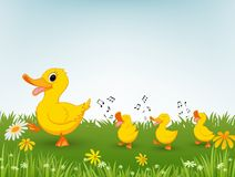 Happy duck cartoon Stock Photography