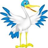 Happy duck cartoon Stock Images