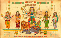 Happy Durga Puja background Stock Images
