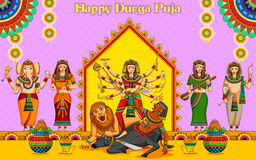 Happy Durga Puja background Royalty Free Stock Image
