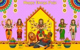 Happy Durga Puja background Royalty Free Stock Image