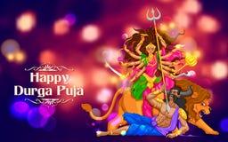 Happy Durga Puja background Stock Image