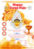 Happy Durga Puja background Royalty Free Stock Photos