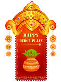 Happy Durga Puja festival background for India holiday Dussehra. Vector illustration of Happy Durga Puja festival background for India holiday Dussehra Stock Photography