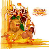 Happy Durga Puja festival background for India holiday Dussehra Stock Photography