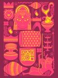 Happy Durga Puja festival background kitsch art India Royalty Free Stock Photography
