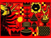 Happy Durga Puja festival background kitsch art India Royalty Free Stock Photo