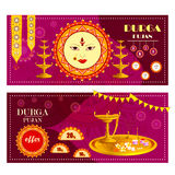 Happy Durga Puja festival Sale And Promotion background for India holiday Dussehra. Vector illustration of Happy Durga Puja festival Sale And Promotion Stock Photo