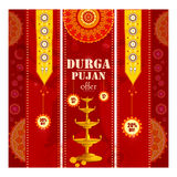 Happy Durga Puja festival Sale And Promotion background for India holiday Dussehra. Vector illustration of Happy Durga Puja festival Sale And Promotion Royalty Free Stock Photo