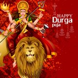 Happy Durga Puja India festival holiday background. Easy to edit vector illustration of Happy Durga Puja India festival holiday background Royalty Free Stock Photos