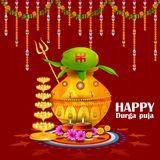 Happy Durga Puja India festival holiday background. Easy to edit vector illustration of Happy Durga Puja India festival holiday background Stock Photography
