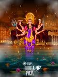 Happy Durga Puja India festival holiday background Royalty Free Stock Images