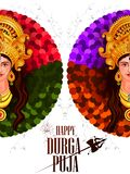 Happy Durga Puja India festival holiday background Stock Images