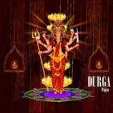 Happy Durga Puja India festival holiday background. Easy to edit vector illustration of Happy Durga Puja India festival holiday background Stock Photos