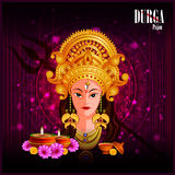 Happy Durga Puja India festival holiday background. Easy to edit vector illustration of Happy Durga Puja India festival holiday background Royalty Free Stock Photography