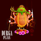 Happy Durga Puja India festival holiday background. Easy to edit vector illustration of Happy Durga Puja India festival holiday background Royalty Free Stock Image