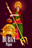 Happy Durga Puja India festival holiday background. Easy to edit vector illustration of Happy Durga Puja India festival holiday background Stock Image