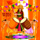 Happy Durga Puja India festival holiday background Stock Images