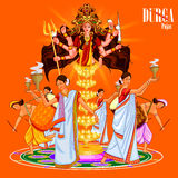 Happy Durga Puja India festival holiday background Stock Image