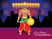 Happy dussehra background with ravan Royalty Free Stock Photo
