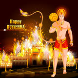 Happy Dussehra background showing festival of India Stock Photography
