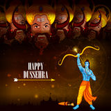 Happy Dussehra background showing festival of India Stock Photo