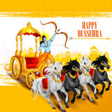 Happy Dussehra background showing festival of India Royalty Free Stock Photography