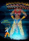 Happy Dussehra background showing festival of India Royalty Free Stock Photos