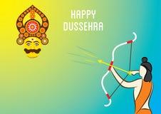 Happy dussehra banner design Stock Photos