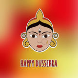 Happy Dussehra. Card with Durga. Eps10 Stock Photography