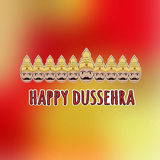Happy Dussehra. Card with Ravana with ten heads.  Royalty Free Stock Image