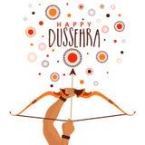 Happy Dussehra celebration background. Stock Photos