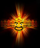 Happy Dussehra festival colorful design Stock Image