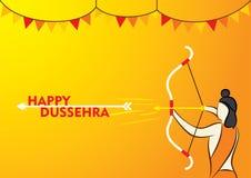 Happy dussehra poster design. Happy dussehra festival poster design Royalty Free Stock Photo