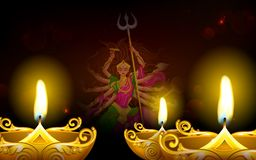 Happy Dussehra with goddess Durga Royalty Free Stock Images