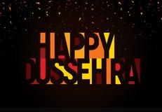 Happy Dussehra greeting banner. Vijayadashami, Hindu festival logo template. Indian Holiday Unusual lettering. Happy Dussehra greeting banner. Vijayadashami royalty free illustration